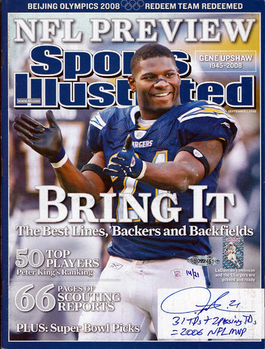 LaDainian Tomlinson Autographed Sports Illustrated Magazine San Diego Chargers