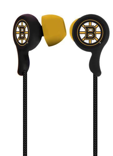 Mizco NHL Boston Bruins Armor Stereo Handsfree Earbuds Boston