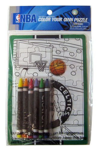 Color Your Own Puzzle - NBA Boston Celtics