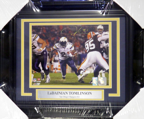 LaDainian Toinson Autographed Framed 8x10 Photo San Diego Charge PSA/DNA