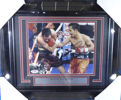 Manny Pacquiao Autographed Framed 8x10 Photo
