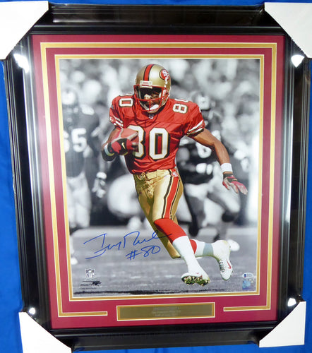 Jerry Rice Autographed Framed 16x20 Photo San Francisco 49ers  #138447