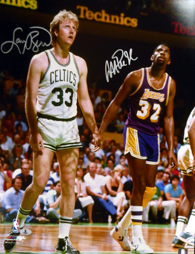 Magic Johnson & Larry Bird Autographed 16x20 Photo