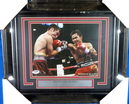 Manny Pacquiao Autographed Framed 8x10 Photo PSA/DNA Stock #139837