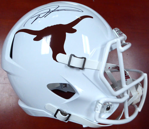 D'Onta Foreman Autographed Texas Longhorns Riddell Speed Replica Helmet