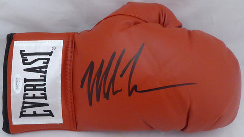 Mike Tyson Autographed Red Everlast Boxing Glove RH Signed In Black JSA Stock #140640