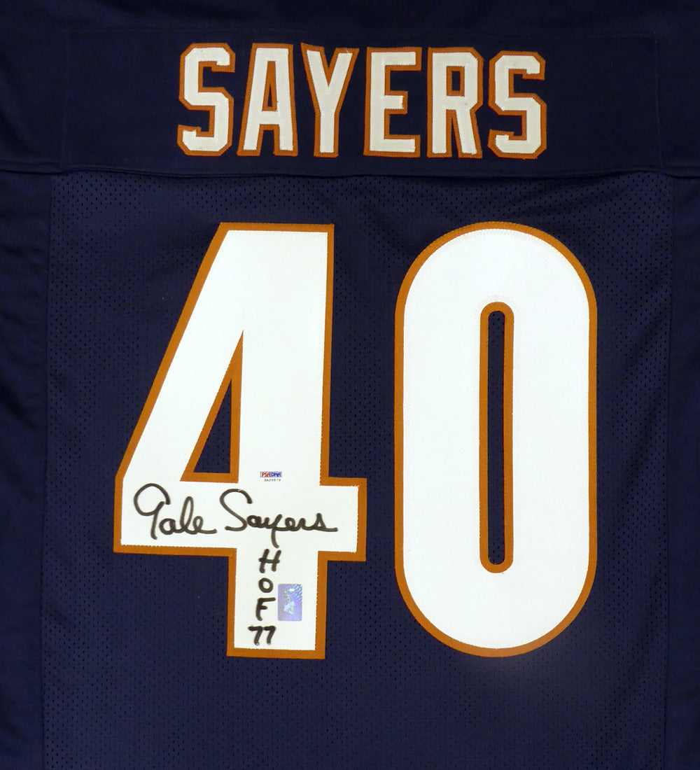 promo code 09e21 6f01c Chicago Bears Gale Sayers Autographed Blue Jersey