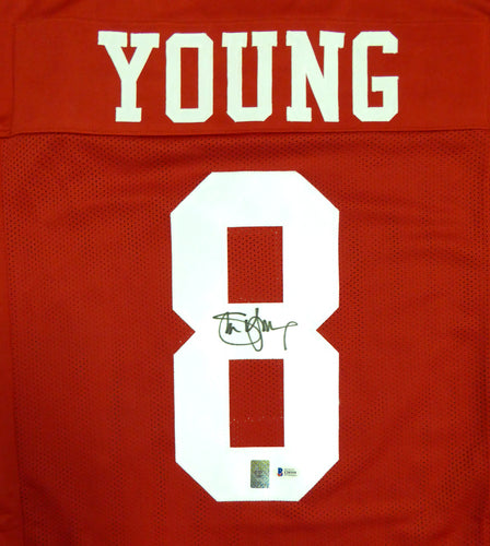 San Francisco 49ers Steve Young Autographed Red Jersey