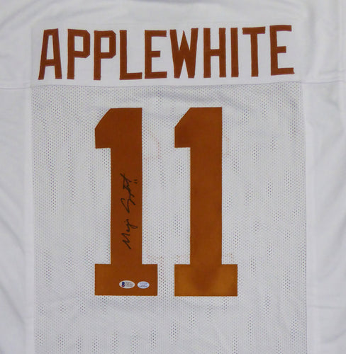 Texas Longhorns Major Applewhite Autographed White Jersey