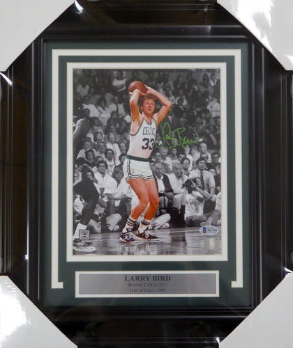 Larry Bird Autographed Framed 8x10 Photo Boston Celtics