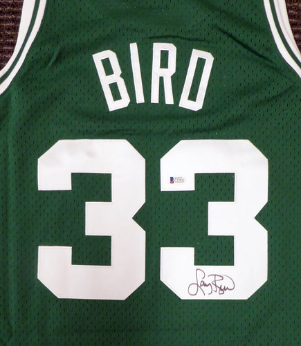 Boston Celtics Larry Bird Autographed Mitchell & Ness Swingman Size L Green Jersey
