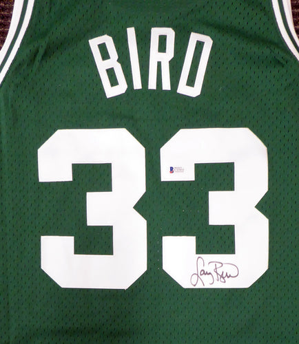 Boston Celtics Larry Bird Autographed Mitchell & Ness Swingman Size XL Green Jersey