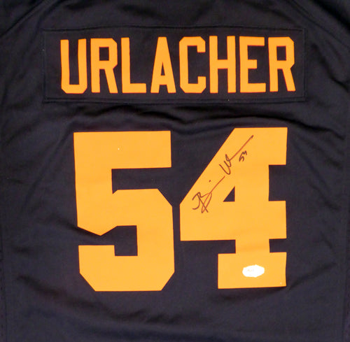 Chicago Bears Brian Urlacher Autographed Blue & Orange Nike Jersey Size XL PSA/DNA