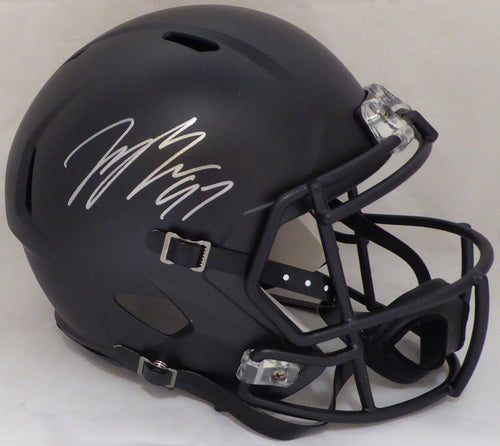Joey Bosa Autographed Ohio State Buckeyes Black Full Size Speed Replica Helmet