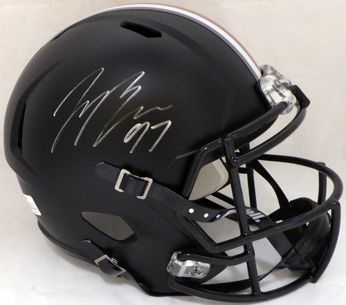 Joey Bosa Autographed Ohio State Buckeyes Black With Red Stripe Full Size Speed Replica Helmet