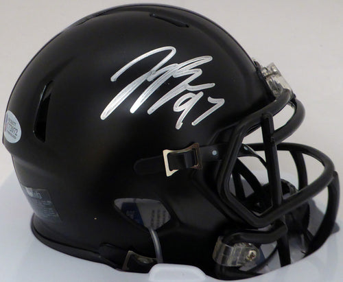 Joey Bosa Autographed Black With Red Stripe Ohio State Buckeyes Speed Mini Helmet