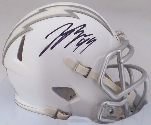 Joey Bosa Autographed San Diego Chargers White Ice Speed Mini Helmet