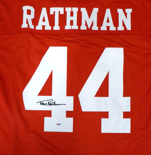 San Francisco 49ers Tom Rathman Autographed Red Jersey PSA/DNA