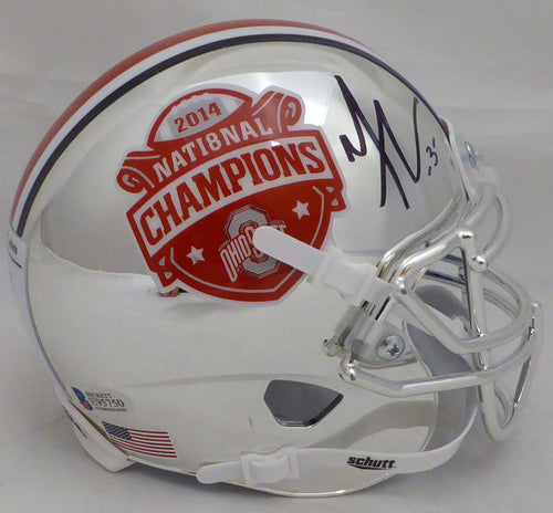 Michael Thomas Autographed Ohio State Buckeyes Chrome Mini Helmet