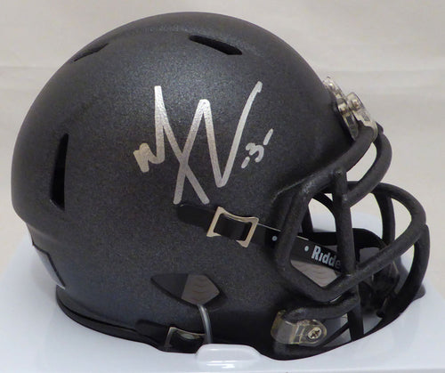 Michael Thomas Autographed Ohio State Buckeyes Black Speed Mini Helmet