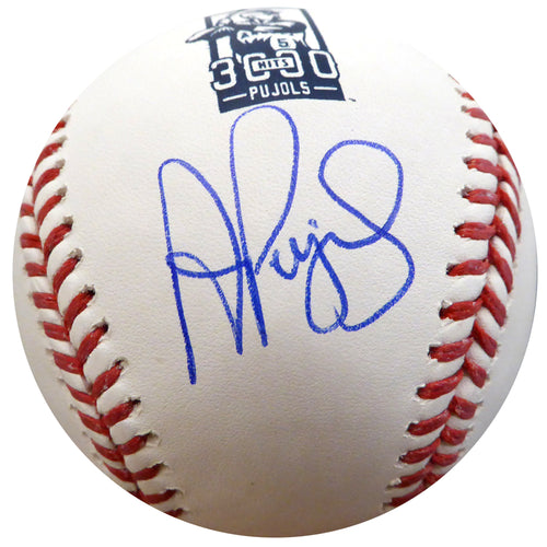 Albert Pujols Autographed Official MLB Baseball Los Angeles Angels 3000 Hit Logo