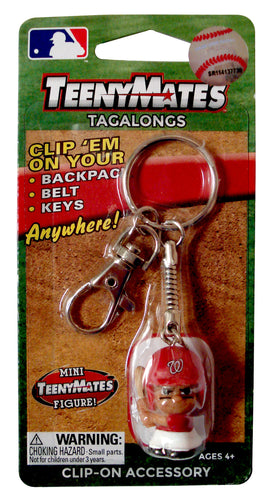 Party Animal TeenyMates Tagalongs Key Chain MLB Washington Nationals