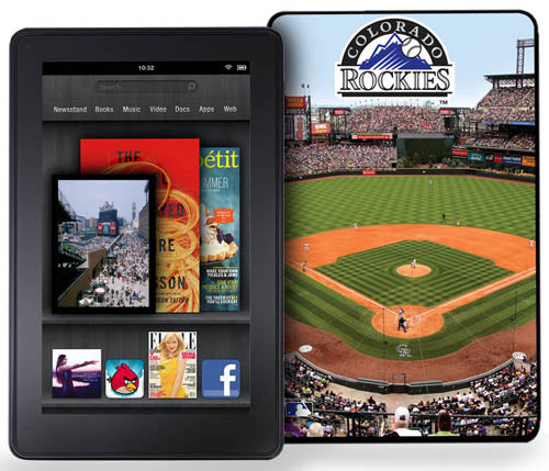 Keyscaper Kindle Fire Case Stadium - Colorado Rockies