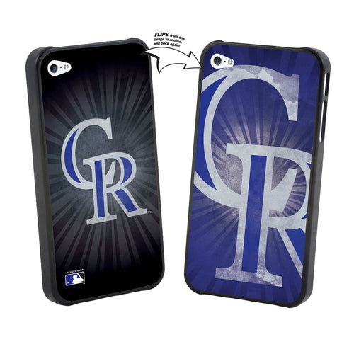Iphone 4/4S MLB Colorado Rockies Large Logo Lenticular Case
