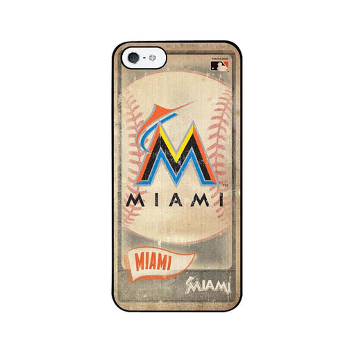 Vintage Iphone 5 Case - Miami Marlins