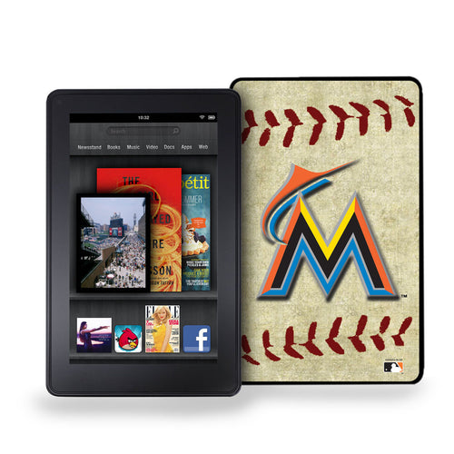 Kindle Fire Vintage Baseball Cover - Miami Marlins