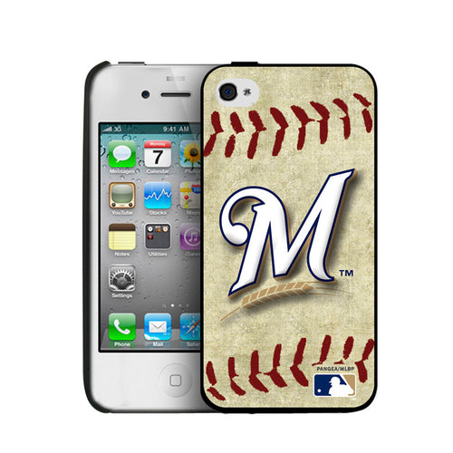 Iphone 4/4S Hard Cover Case Vintage Edition - Milwaukee Brewers