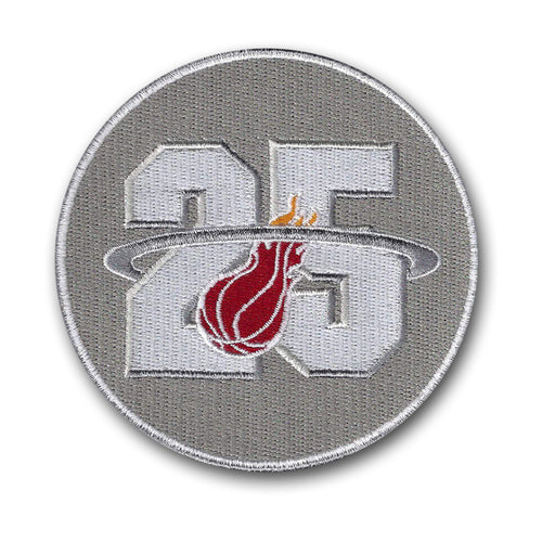 Miami Heat 25th Anniversary Season Logo Patch