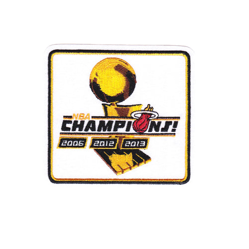 Miami Heat 2012 and 2013 NBA Finals Champions Official NBA Patch