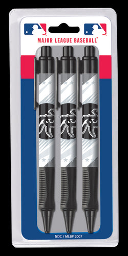 Chicago White Sox 3 Pack Grip Pen Blister Pack