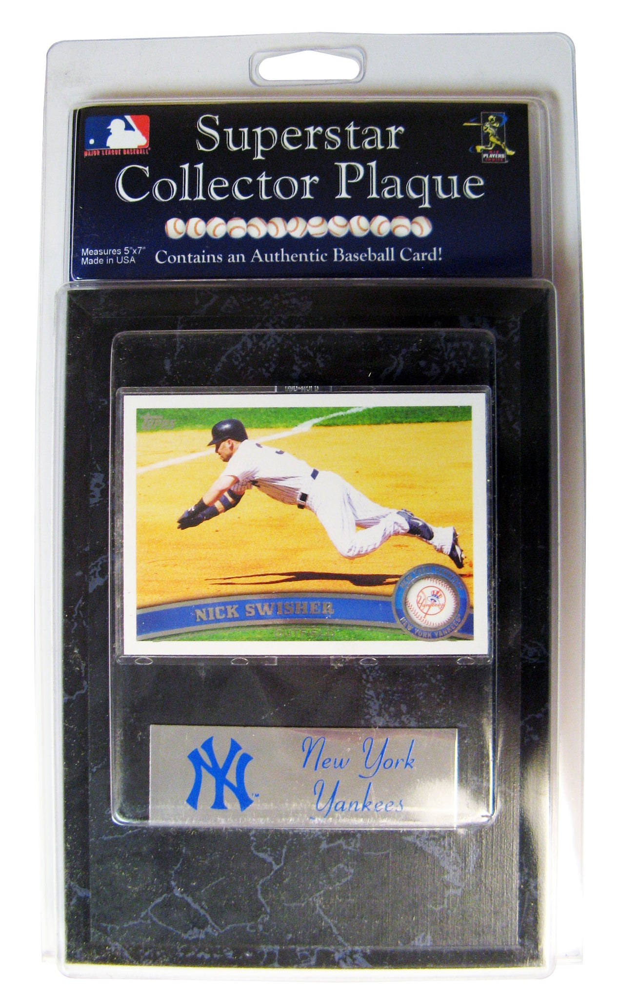 Mlb New York Yankees Nick Swisher Card Plaque