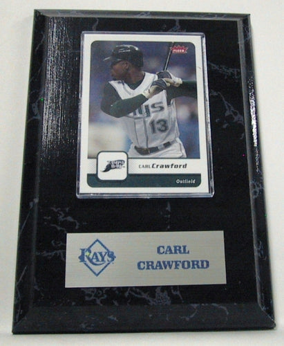 MLB Card Plaques - Tampa Bay Rays-Carl Crawford