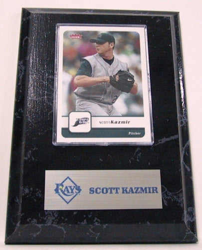 MLB Card Plaques - Tampa Bay Rays-Scott Kazmir