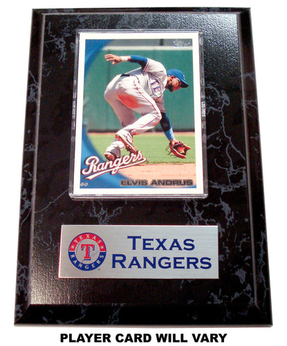 MLB Texas Rangers Card Plaque - Assorted Players