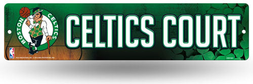Boston Celtics Official NBA 16 inch x 4 inch Plastic Street Sign