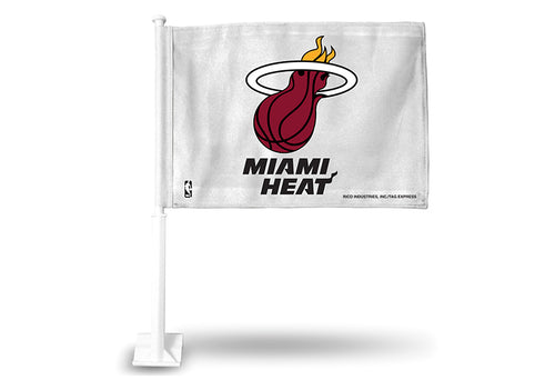 Rico Car Flag - NBA Miami Heat - White