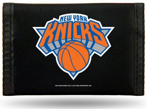 NBA New York Knicks Tri-Fold Nylon Wallet