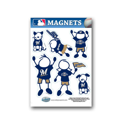 MLB Milwaukee Brewers Family Magnet Set