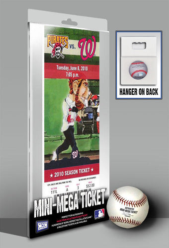 Stephen Strasburg MLB Debut Mini-Mega Ticket - Washington Nationals