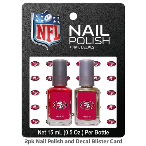 Worthy Nail Decals - NFL San Francisco 49ers