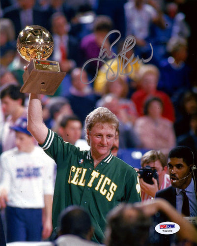 Larry Bird Autographed 8x10 Photo Boston Celtics PSA/DNA
