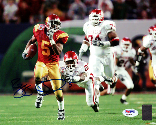 Reggie Bush Autographed 8x10 Photo USC Trojans PSA/DNA