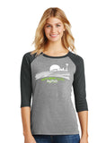 Ladies' Perfect Tri 3/4 Sleeve Raglan