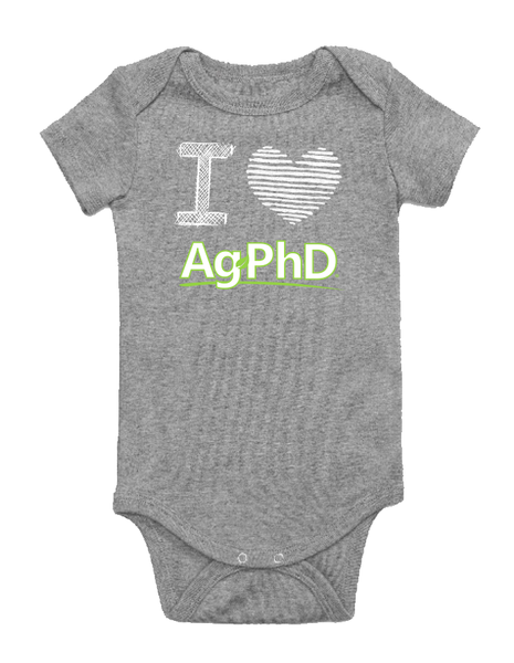 I Heart Ag PhD Onesie