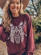 The Feathered Skull Long Sleeve Tee