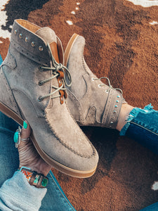 The Nevada Wedge Booties (Grey)